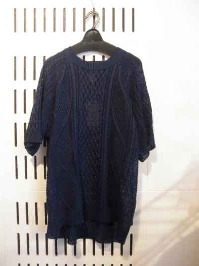 <seminead> CABLE KNIT TEE
