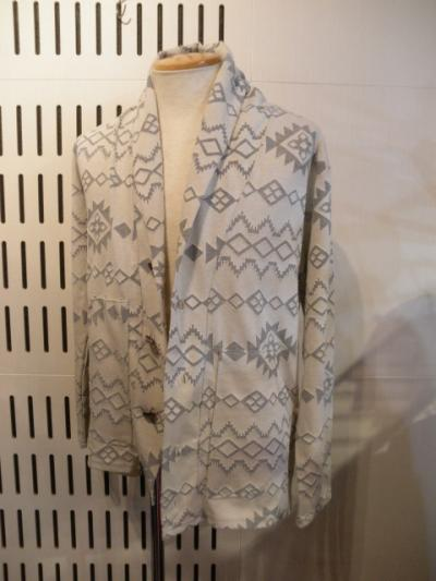 <US RAGS> SHAWL BUTTON CARDIGAN -NAVAJO JERSEY-