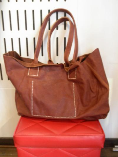 <BADHIYA> LEATHER TOTEBAG