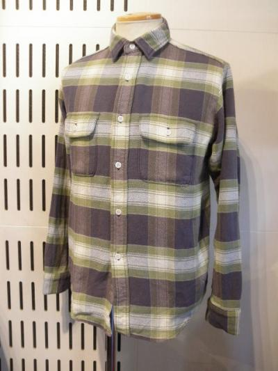 <インパクティスケリー>Bleach plaid nell shirts