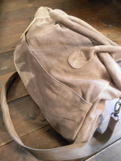 <Badhiya> LETHER BOSTON BAG